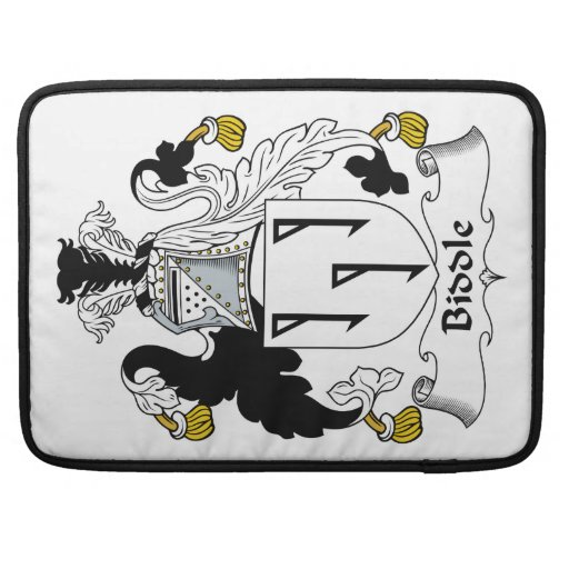 Biddle Family Crest Sleeves For MacBooks