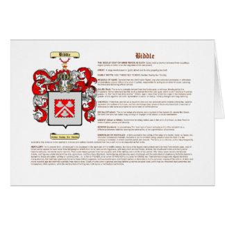 Biddle (significado) tarjeta pequeña