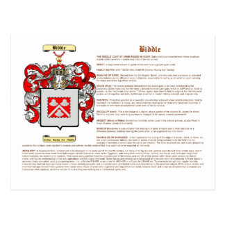 Biddle (significado) tarjeta postal