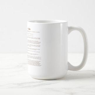 Biddle (significado) taza