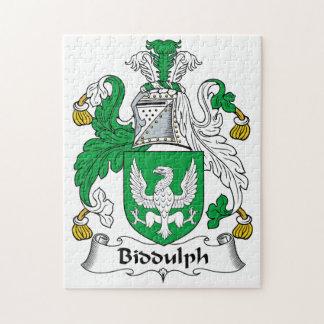 Biddulph Family Crest Jigsaw Puzzles