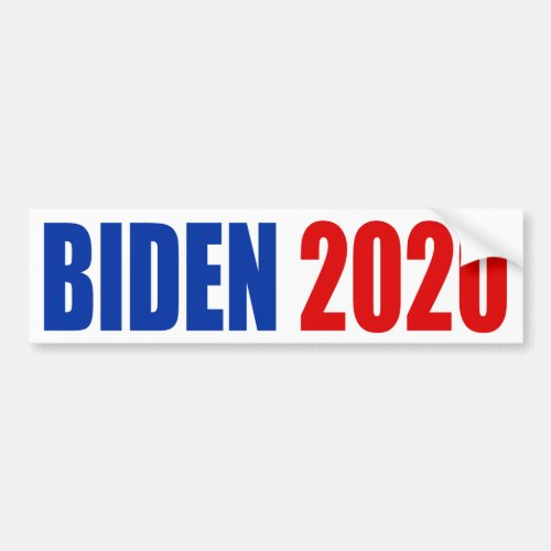 BIDEN 2020 BUMPER STICKER