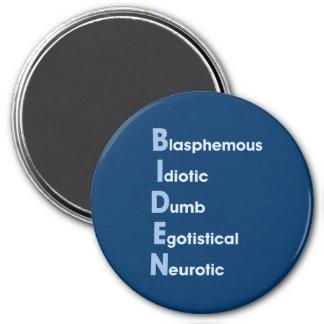 Biden Acronym 3 Inch Round Magnet