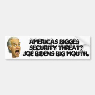 Biden AMERICAS BIGGEST SECURITY THREAT Bumper Sticker