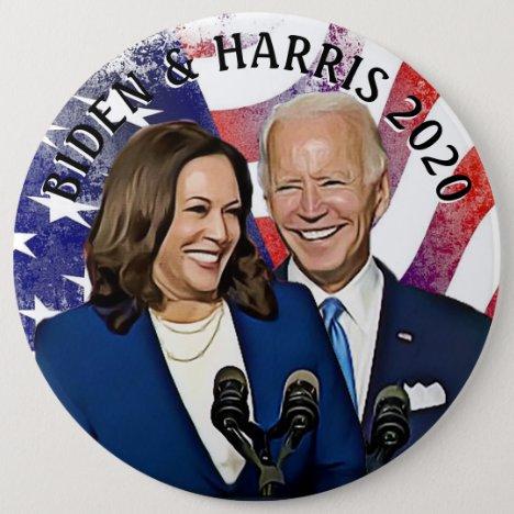 Biden and Harris 2020 Presidential Election Button