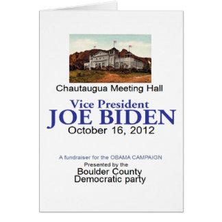 Biden Chautaugua Greeting Card