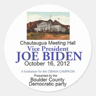 Biden Chautaugua Classic Round Sticker