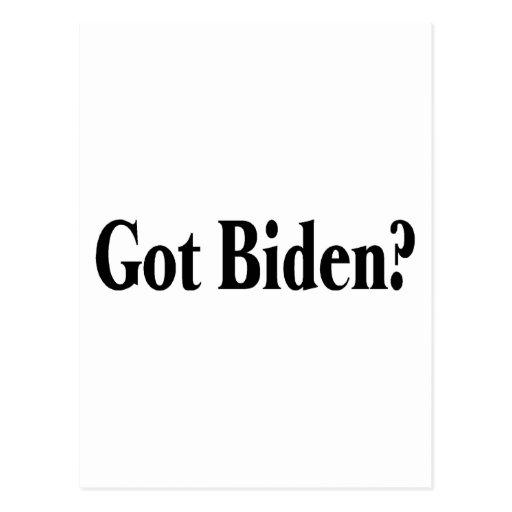 ¿Biden conseguido? Postal