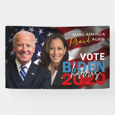 Biden Harris 2020 Election Patriotic Photo Banner