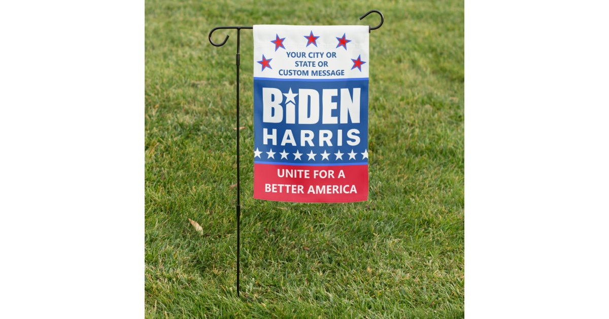 Biden Harris 2020 Election Political Double Sided Garden Flag Zazzle Com