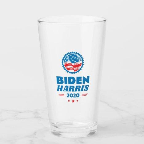 Biden Harris 2020 Flag Seal Glass