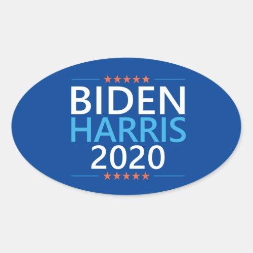 Biden Harris 2020 for President Oval Sticker