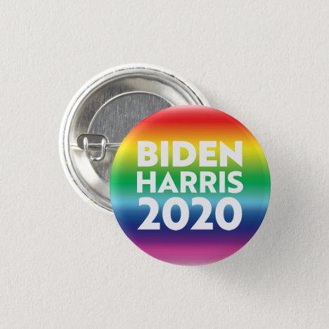 """Biden Harris 2020"" - Pride lgbtq lgbt rainbow Button"