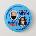 "Biden / Harris Covid-2020 Button<br><div class=""desc"">Masked Leadership</div>"