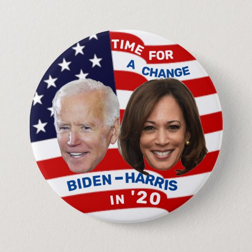 Biden Harris in 20 Button