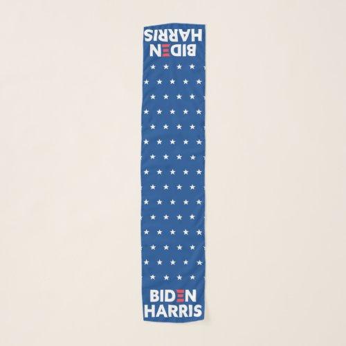 Biden / Harris White Stars Pattern Blue Scarf