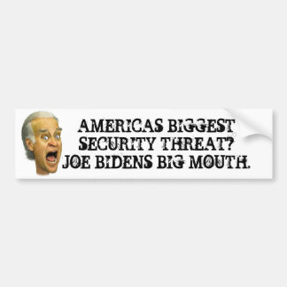 Biden SECURITY THREAT / obama socialist joker Car Bumper Sticker
