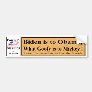 Biden to Obama Y Bumper Sticker