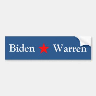Biden/Warren 2016 Pegatina Para Auto