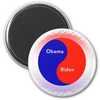 ~ Biden Yin Yang de Obama Imán Redondo 5 Cm