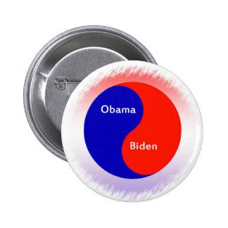 ~ Biden Yin Yang de Obama Pin Redondo 5 Cm