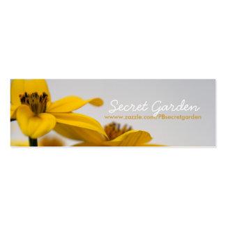 Bidens - fotografía floral - tarjetas de visita