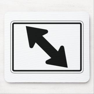 Bidirectional Arrow (1), Traffic Sign, USA Mousepads