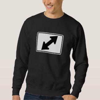 Bidirectional Arrow (2), Traffic Sign, USA Sweatshirt