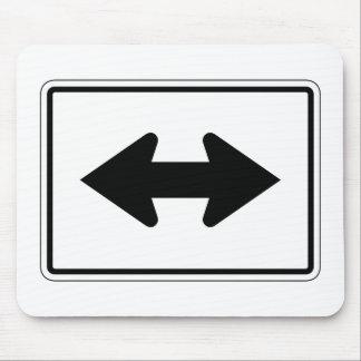 Bidirectional Arrow Left-Right, Traffic Sign, USA Mousepads
