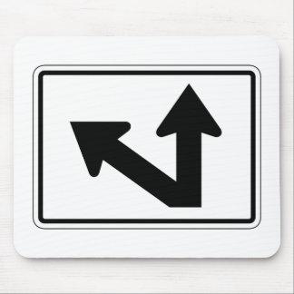 Bidirectional Arrow Up Oblique Left, Sign, USA Mouse Pads