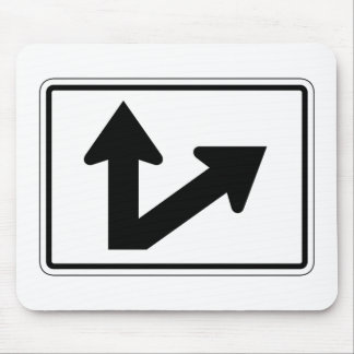 Bidirectional Arrow Up Oblique Right, Sign, USA Mousepads