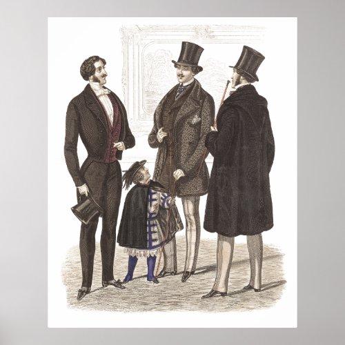 Men in Tuxes Poster: Biedermeier Fashions, the Ultimate in Male Elegance