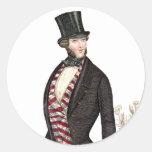 Biedermeier Gentleman Stickers