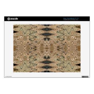 Biege black pattern design acer chromebook skin