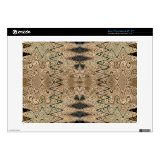 Biege black pattern design decal for acer chromebook