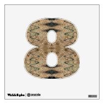 Biege black pattern design wall decal