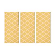 Biege pattern canvas print