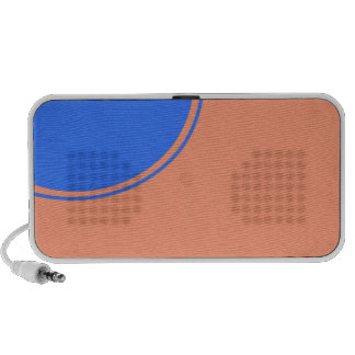 biege turquoise circle mini speaker