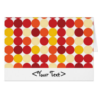 Biege Yellow Orange and Red Dots Card