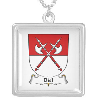 Biel Family Crest Silver Plated Necklace