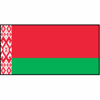 Bielorrusia - bandera bielorrusa fotoescultura vertical