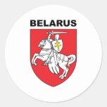 Bielorrusia Etiquetas Redondas