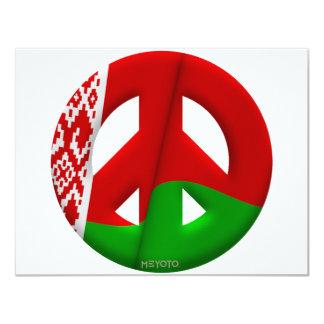 """Bielorrusia Invitación 4.25"""" X 5.5"""""""