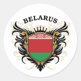 Bielorrusia Pegatina Redonda