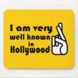 Bien conocido en Hollywood Mousepad Alfombrilla De Raton