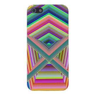 Bien de arco iris colorea final brillante del iPho iPhone 5 Funda