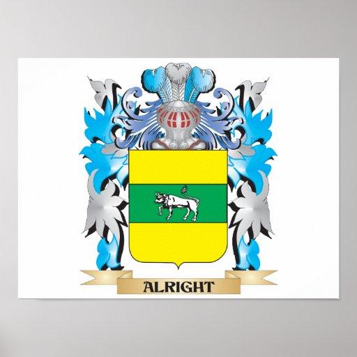 Bien escudo de armas póster