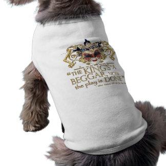 Bien está lo que bien acaba cita (versión del oro) camiseta de mascota