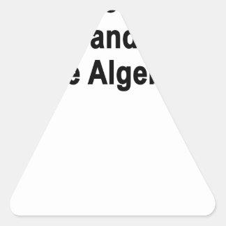 Bien, otro día pasajero y yo no utilizamos álgebra pegatina triangular
