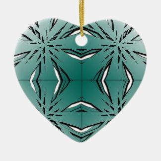 Bien proporcionado adorno navideño de cerámica en forma de corazón